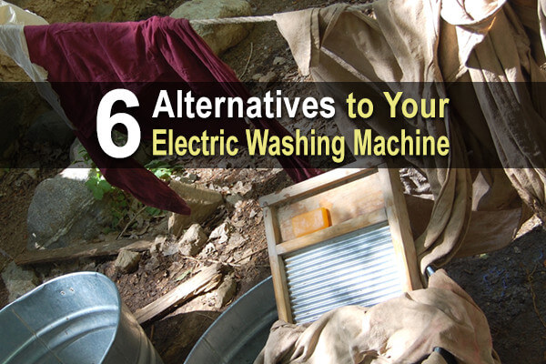 6 Alternatives to Your Electric Washing Machine