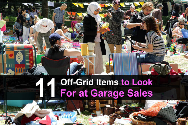 11 Off-Grid Items to Look For at Garage Sales