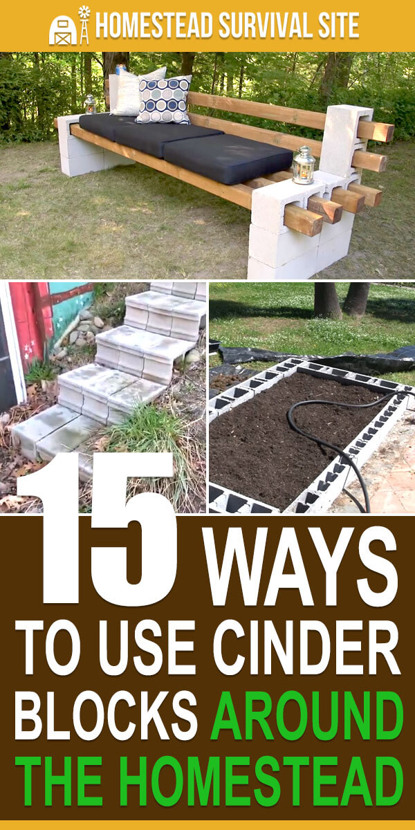 15 Ways to Use Cinder Blocks Around the Homestead