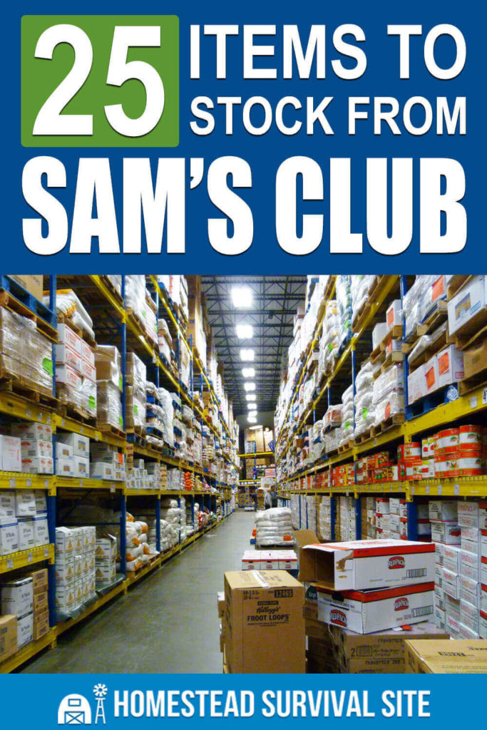 25 Items to Stock From Sam's Club