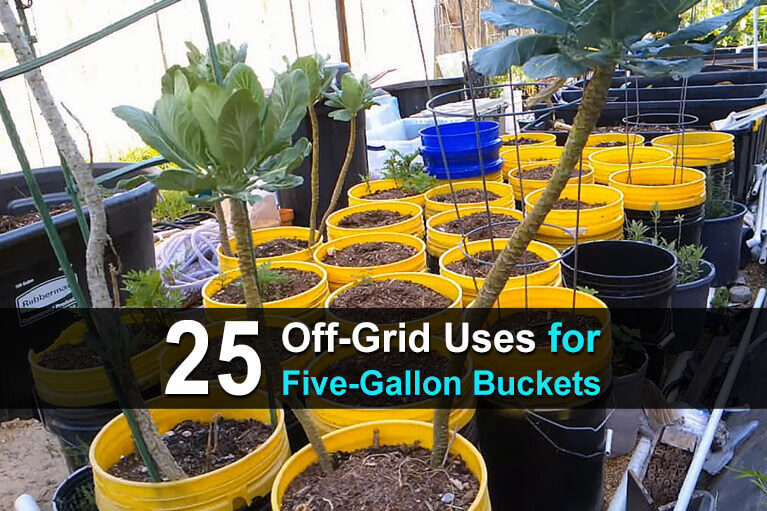 25 Off Grid Uses for Five Gallon Buckets