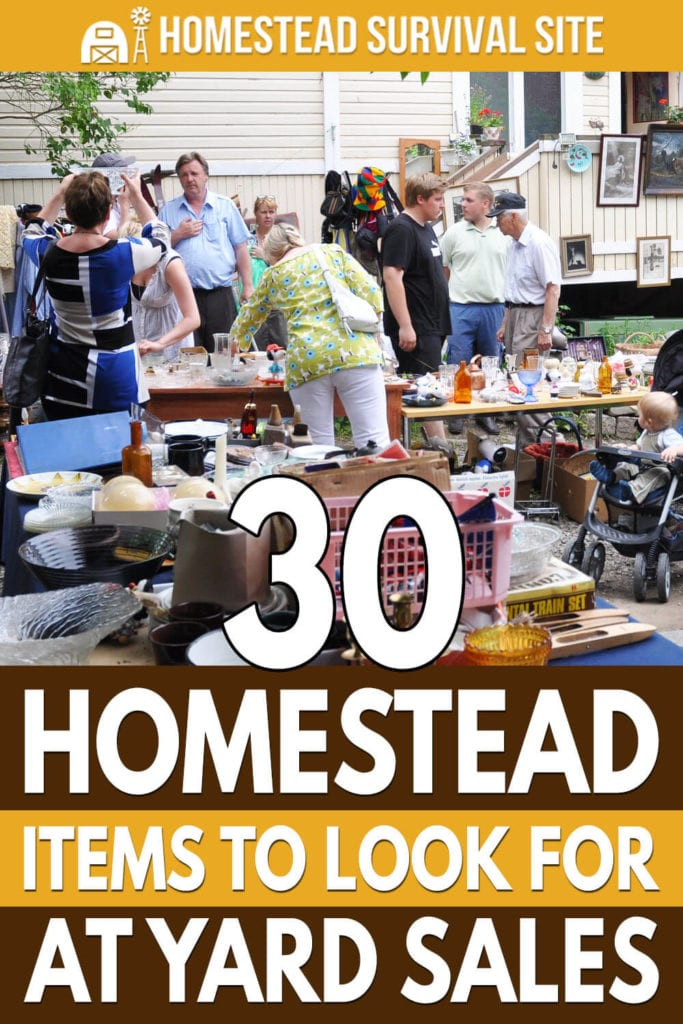 30 Homestead Items to Look For at Yard Sales