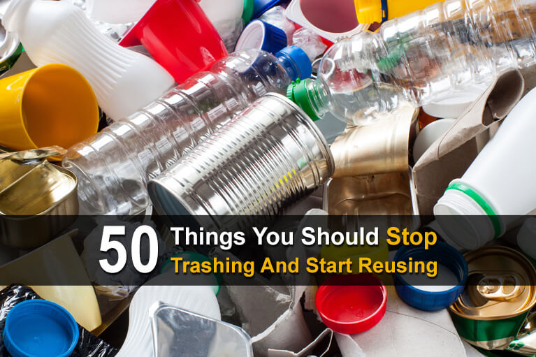 Save money by finding ways to repurpose and upcycle things that other folks would throw away. Here are 50 items you should reuse.