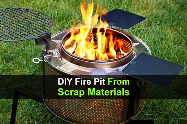 DIY Fire Pit From Scrap Materials
