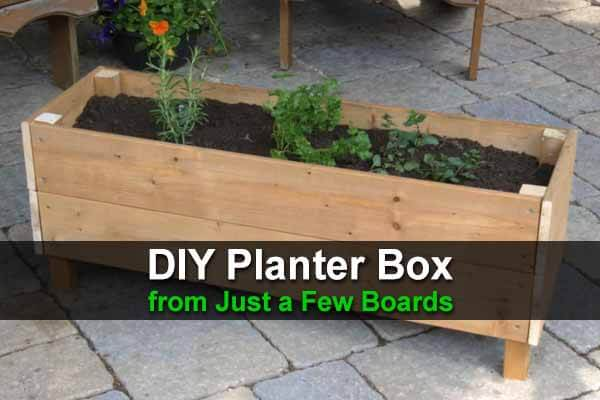 DIY Planter Box from Just a Few Boards