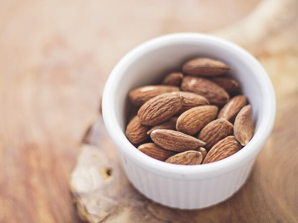 Almonds in a Dish