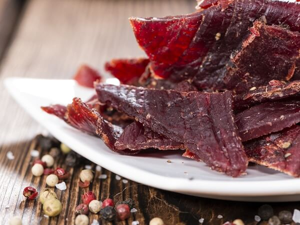 Beef Jerky On Table