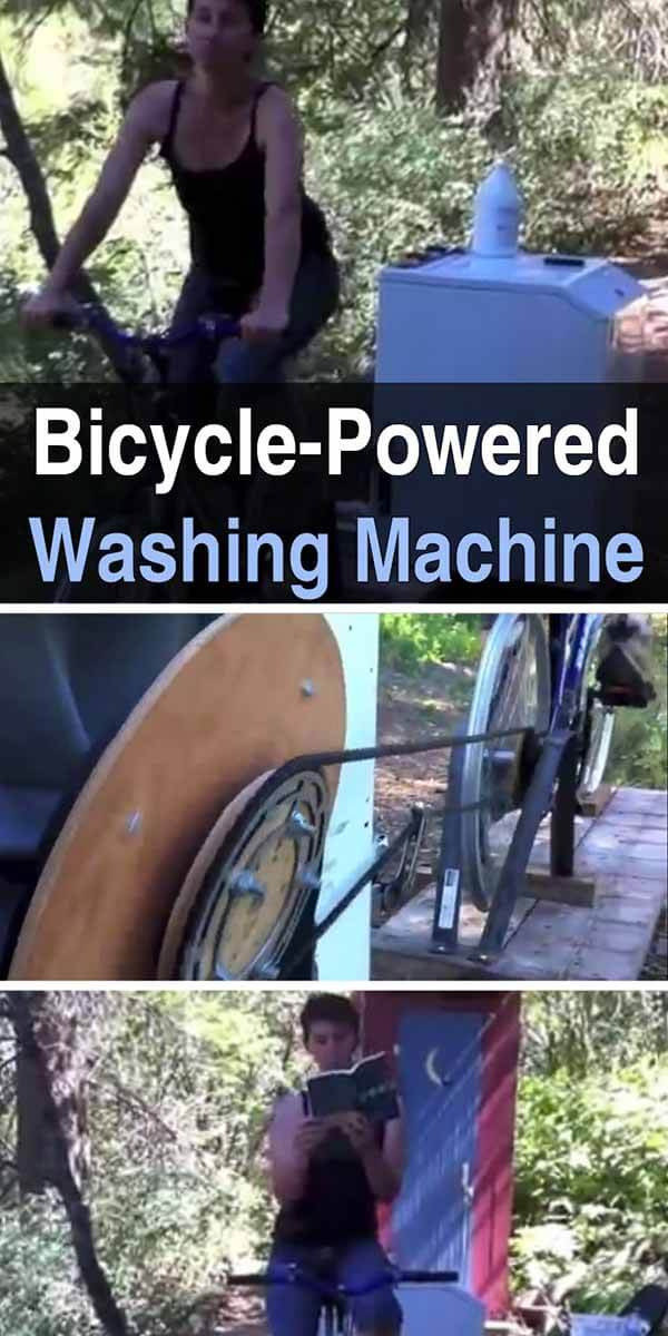 Bicycle-Powered Washing Machine