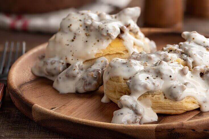 Biscuits and Jerky Gravy