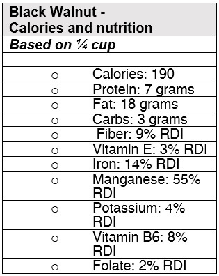 Black Walnut Nutrition Information