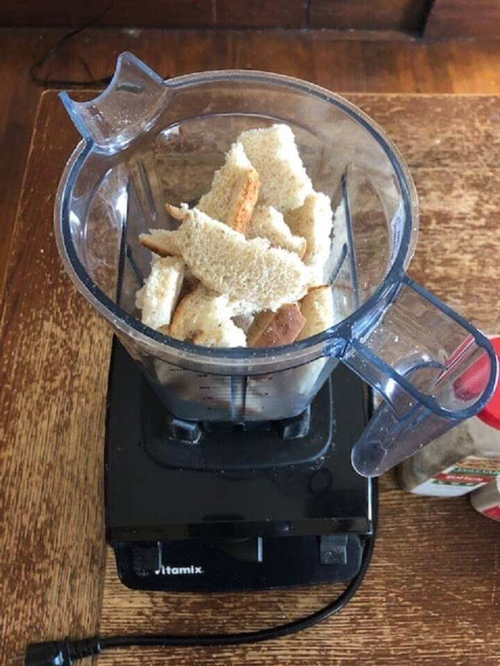 Blender With Chunks Of Stale Bread