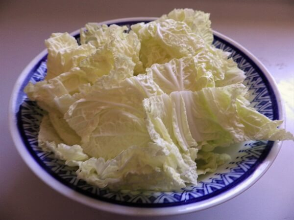 Cabbage Cut for Kimchi