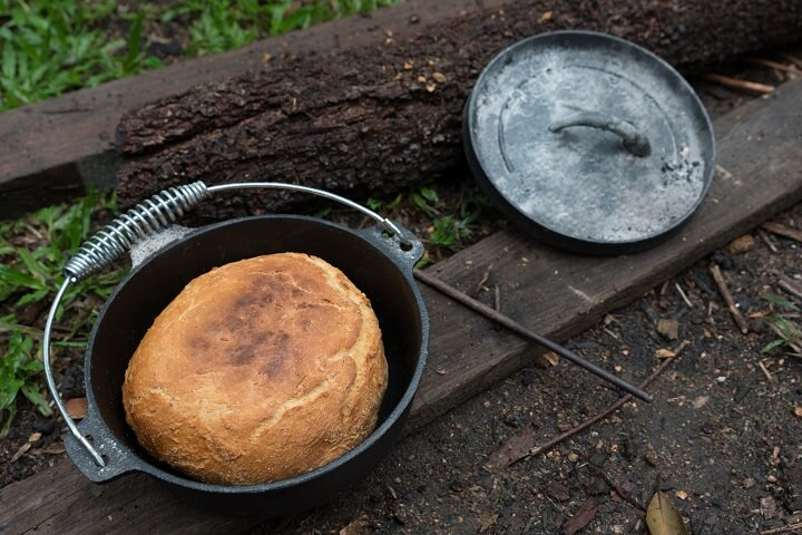 Campfire Bread In Dutch Oven