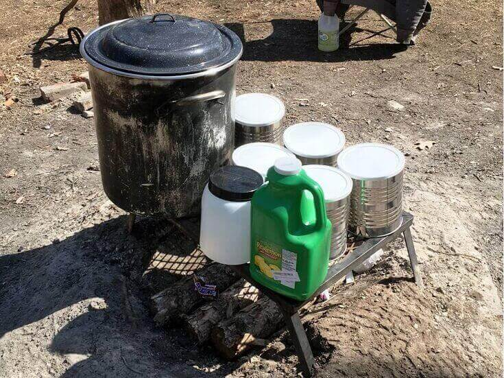 Cans for Storing Sap
