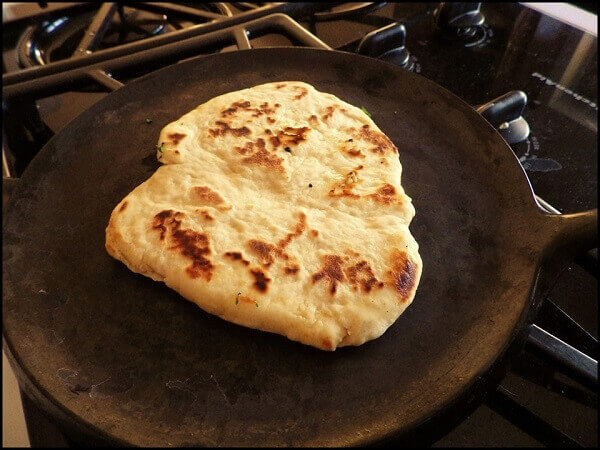 Cast Iron Flatbread on Skillet