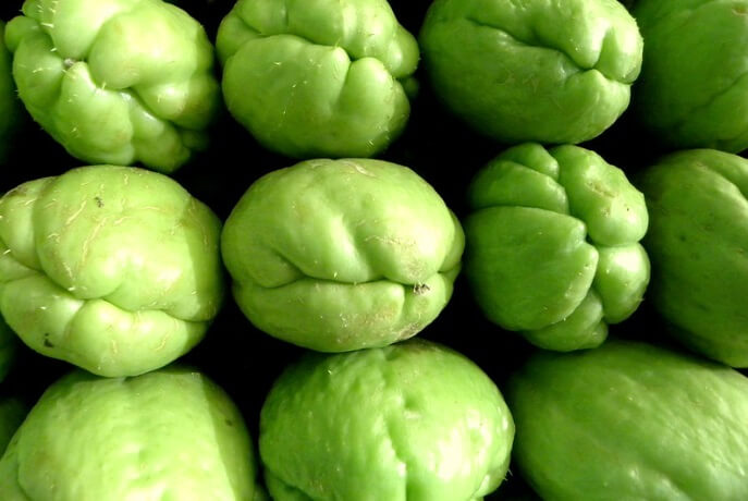 Chayote Squash Up Close