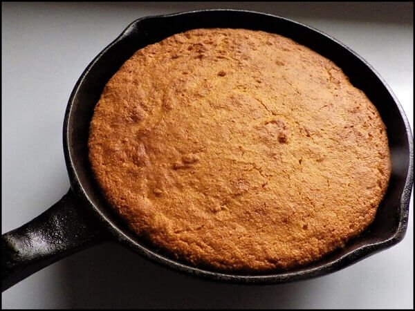 Cornbread Baked in Cast Iron Pan