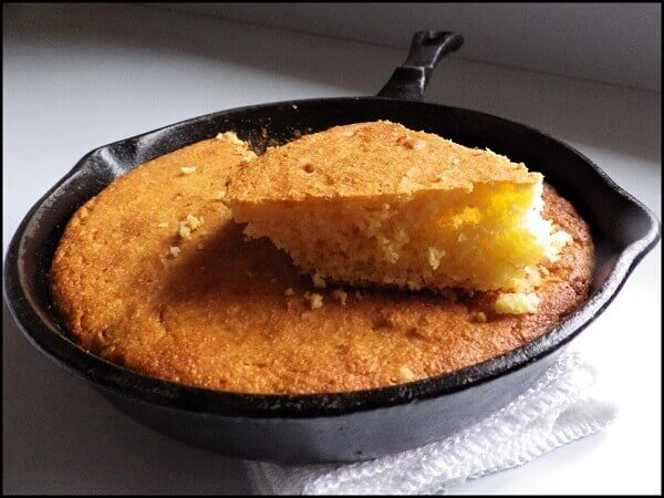 Cornbread Slice in Cast Iron