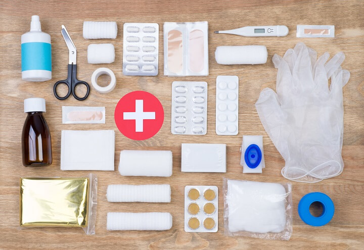 First Aid Kit On Table
