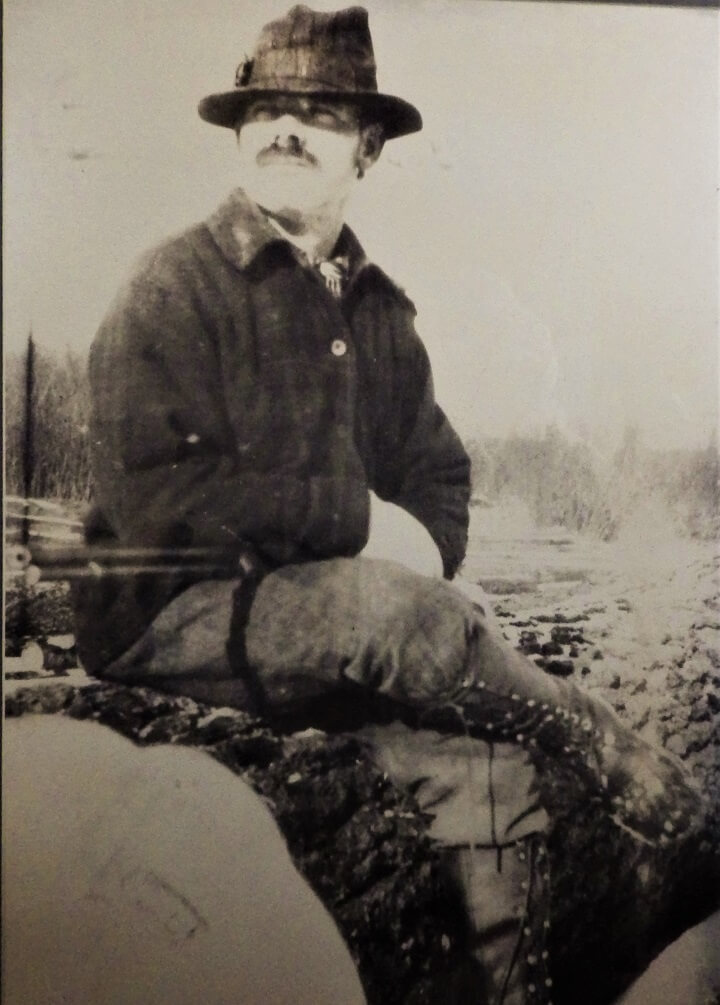 Great Grandpa Sitting on a Log