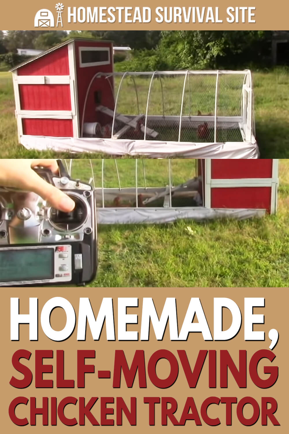 Homemade, Self-Moving Chicken Tractor