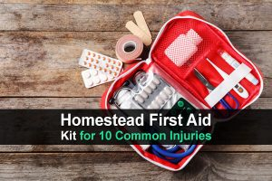 Homestead First Aid Kit for 10 Common Injuries