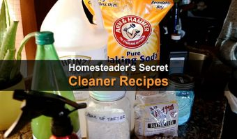 Homesteader's Secret Cleaner Recipes
