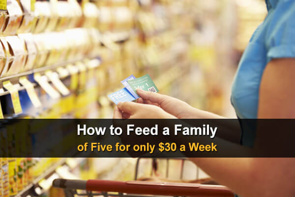 How to Feed a Family of Five for only $30 a Week