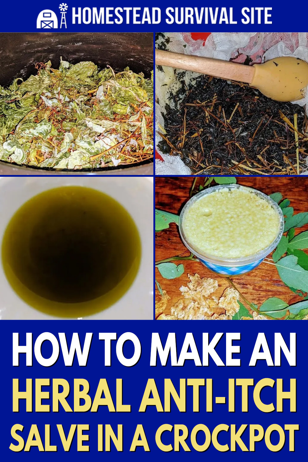 How To Make An Herbal Anti-Itch Salve In A Crock-Pot