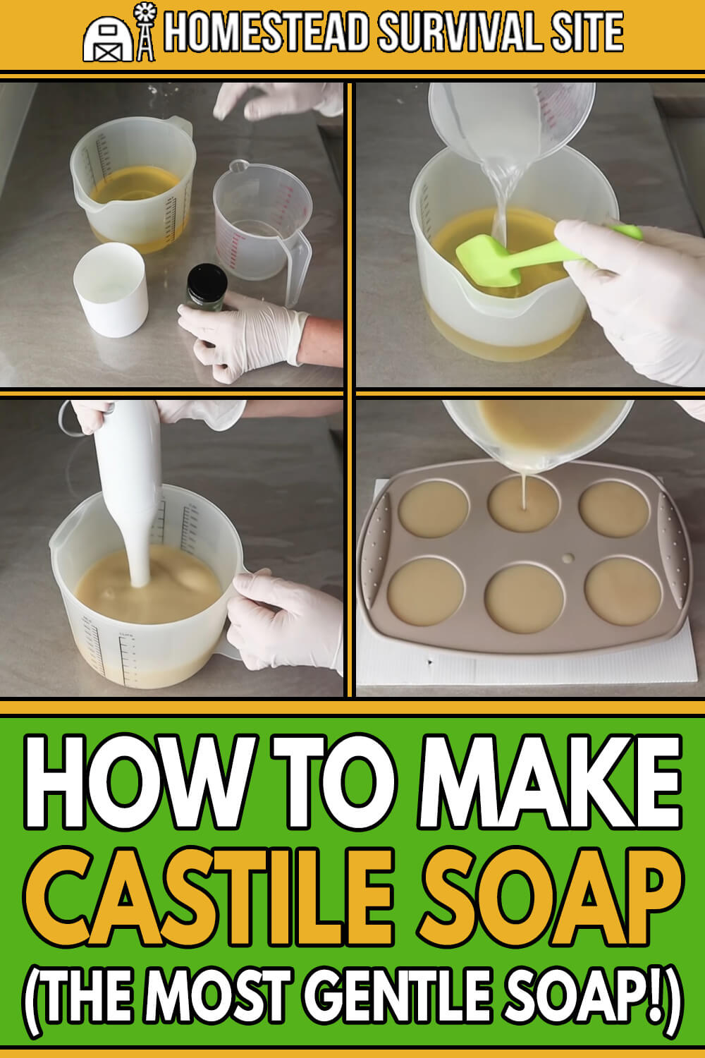 How to Make Castile Soap (The Most Gentle Soap!)