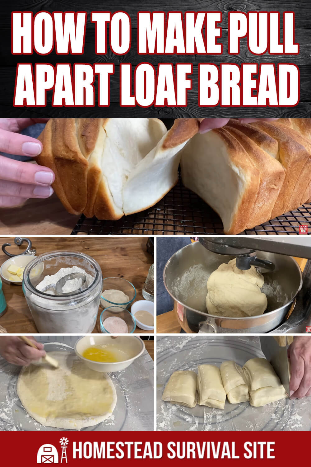 How to Make Pull-Apart Loaf Bread