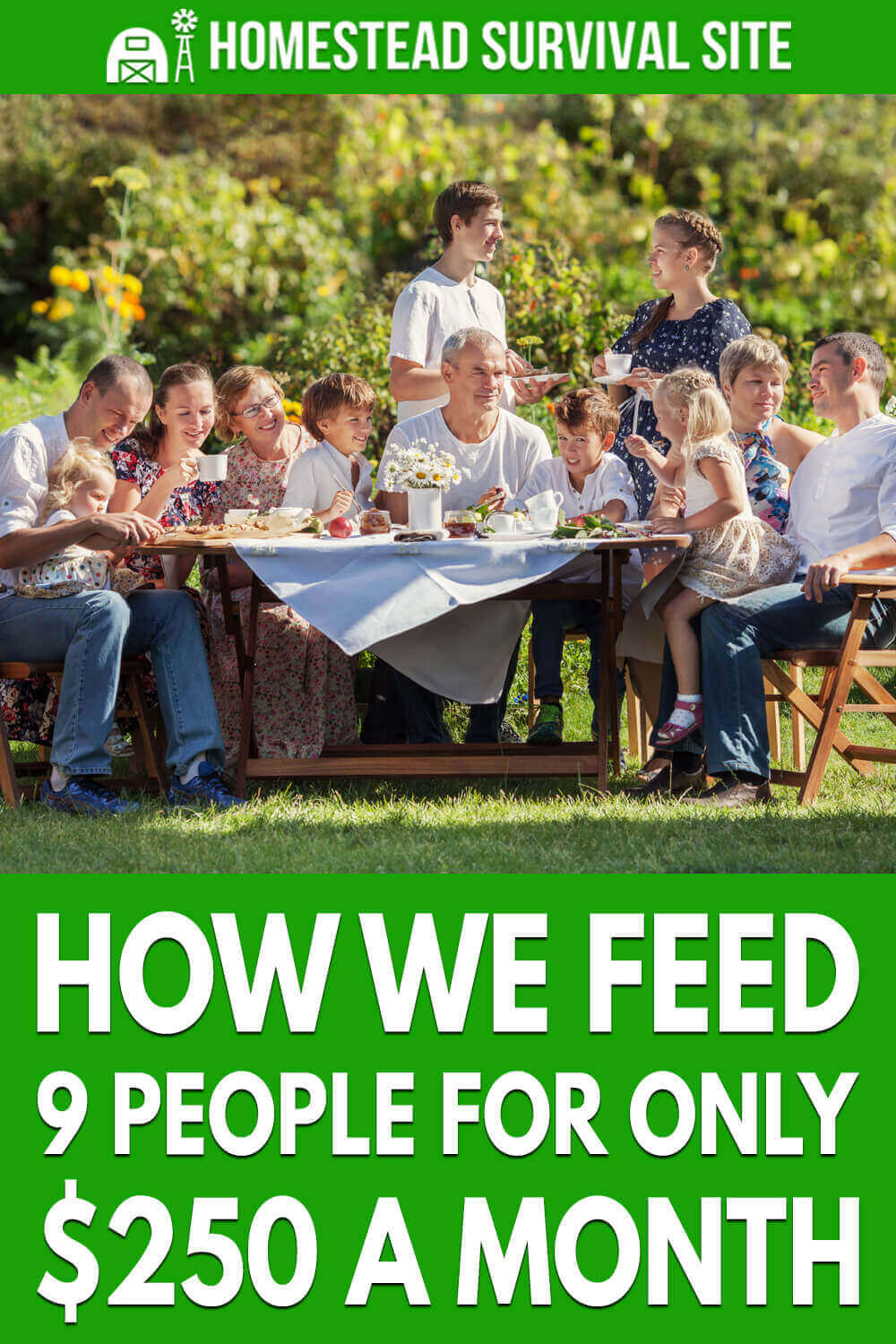 In this video, Brad and his wife explain how they feed a family with 7 children on a budget of $250 a month. If this sounds impossible, watch the video.