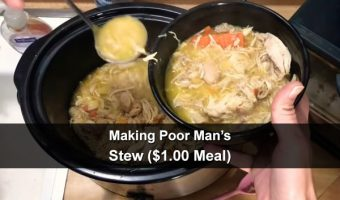 Making Poor Man's Stew ($1.00 Meal)