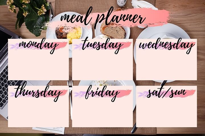 Meal Planner With Post-It Notes