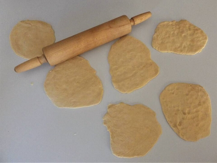 Naan Dough Rolled Out