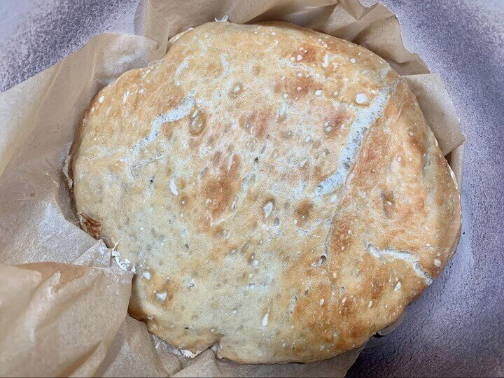 No-Knead Bread After Cooling