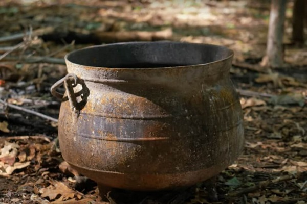 Old Cast Iron Pot