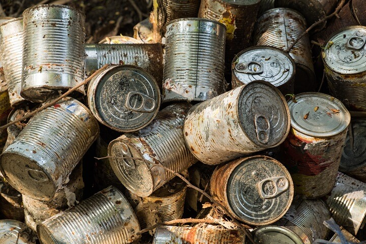 Old Rusty Canned Food