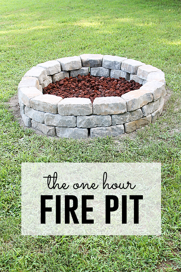 One Hour Fire Pit