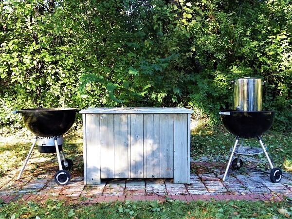 Outdoor Lard Rendering With 2nd Kettle Grill For New Hot