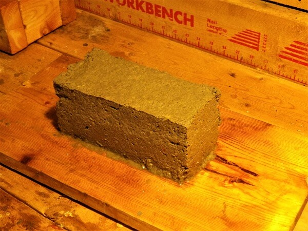 Papercrete Brick Released From Form