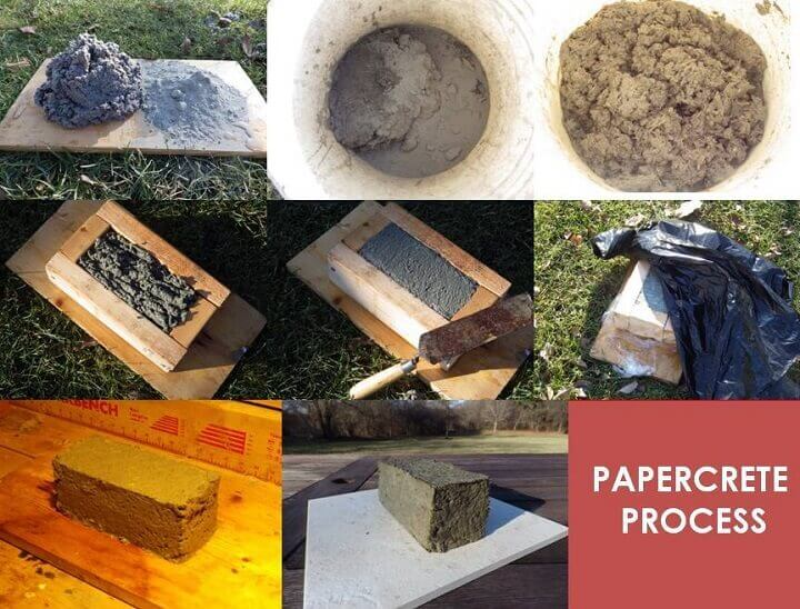 Papercrete Process Step By Step