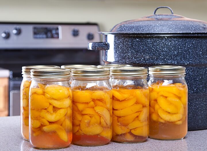 Peach Slices In Canning Jars