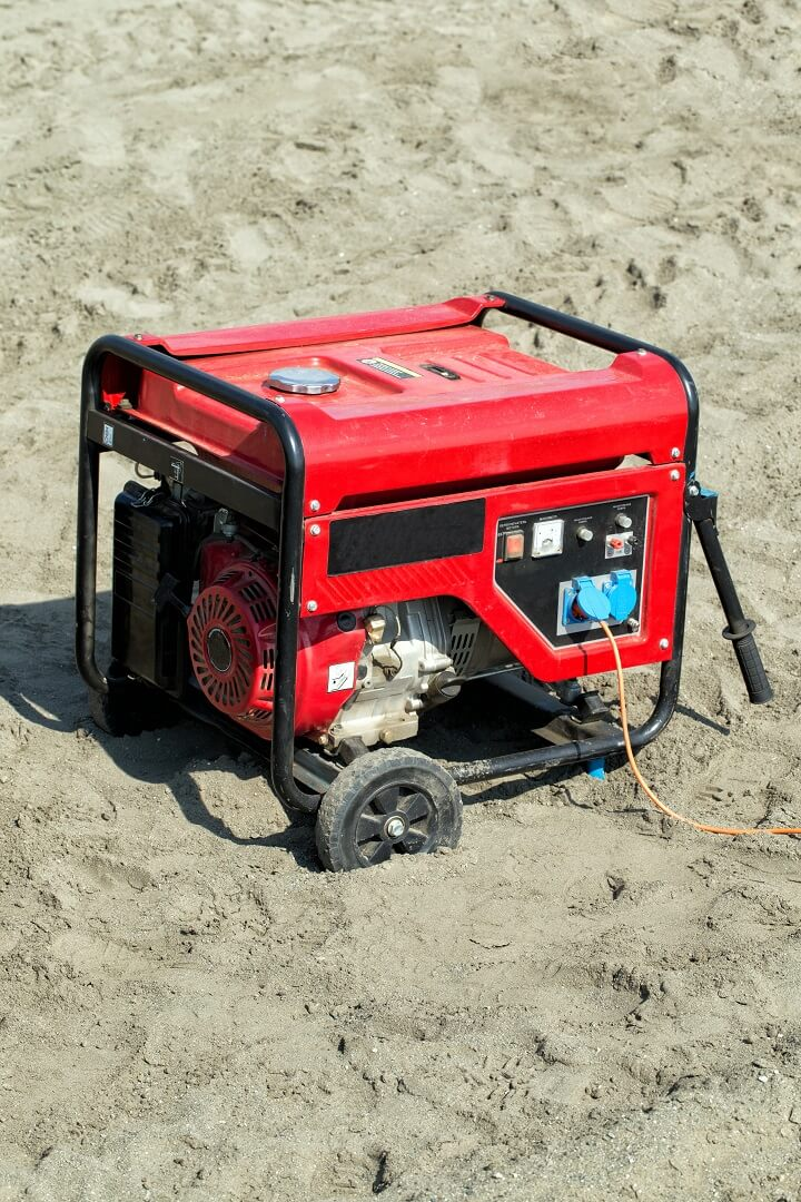 Portable Generator In The Sand