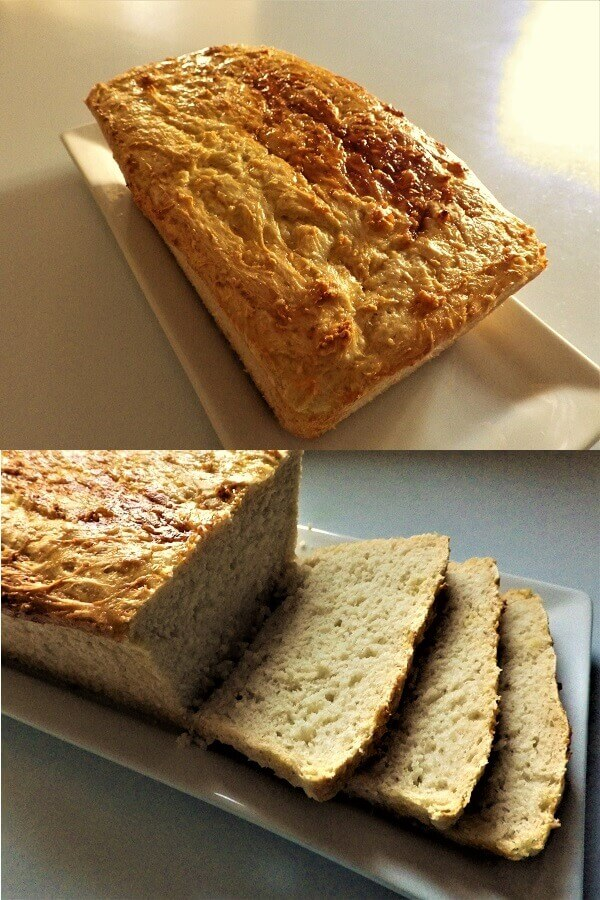 Rice Flour Bread Loaf and a Slice