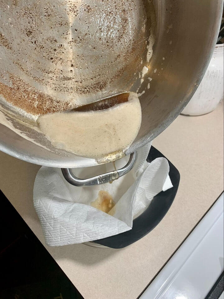 Straining Butter Through Cheesecloth