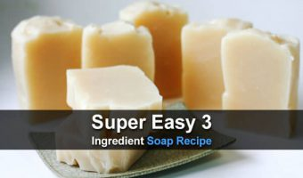 Super Easy 3 Ingredient Soap Recipe