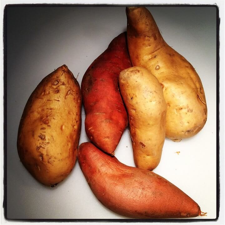 Sweet Potatoes on Table