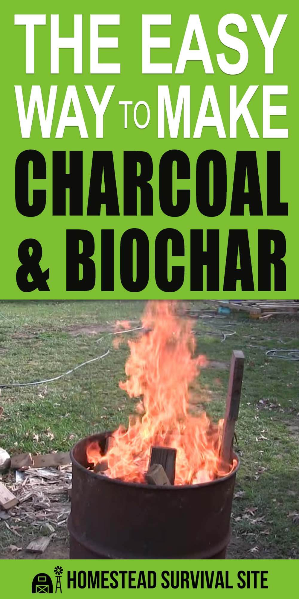 The Easy Way To Make Charcoal and Biochar