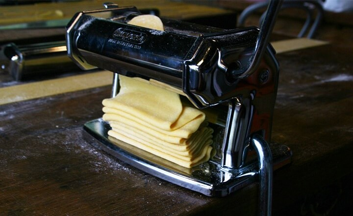 Using The Pasta Maker